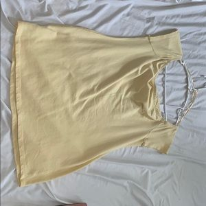 soft yellow maternity off the shoulders shirt